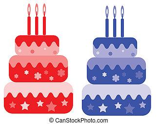 set., verjaardagstaart