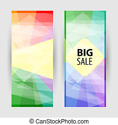 Set vertical banners with empty place for text. Abstract summer