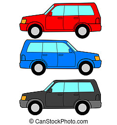 set, vervoer, iconen, -, symbols., vector