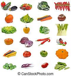 set, verzameling, groentes