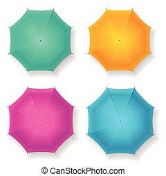 set., vettore, ombrello