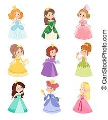 set., vettore, principessa