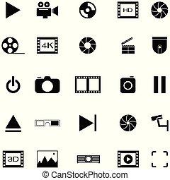 set, video, pictogram