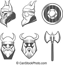 set viking head