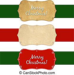 Set Vintage Christmas Labels