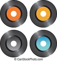 Set vinyl records