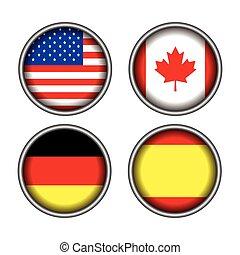 set, vlaggen