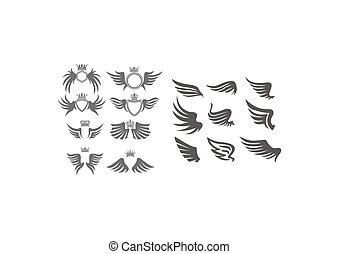 set, vleugel, verzameling