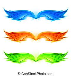 set, vleugels, abstract
