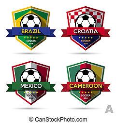 set, ), (, voetbal, voetbal, badge
