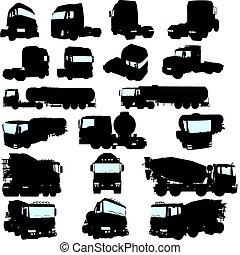set, vrachtwagen