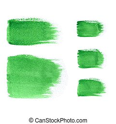 Set watercolor brush strokes