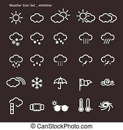 set-weather-white, linea, icona