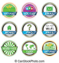 Set web of icons