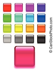 Set web shiny glass vector buttons