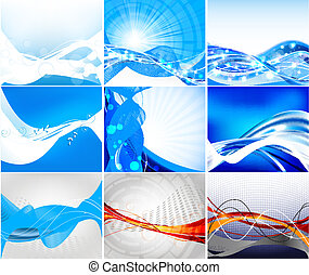 set, website, vector, abstract