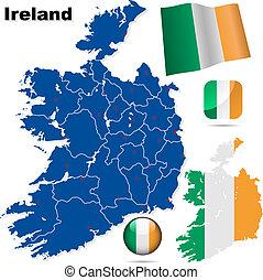 set., wektor, irlandia