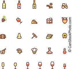 set, wijntje, pictogram