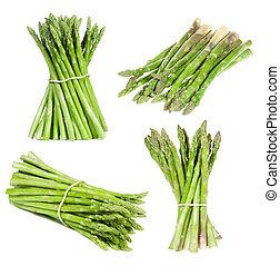 set with asparagus