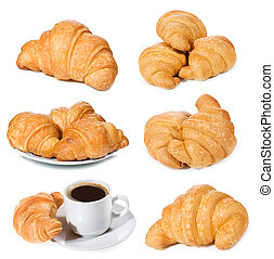 set with croissants