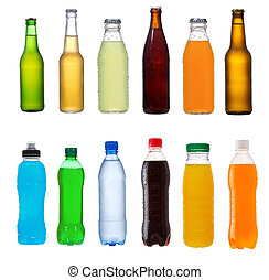 set with different bottles