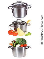set with different pans