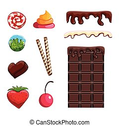 Set with different sweets