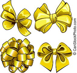Set with golden bows