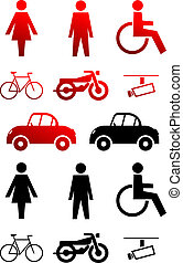 set with icons concerning mobility and traffic