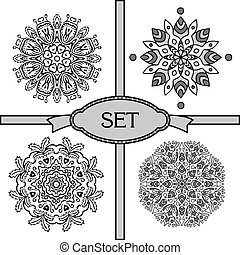 set with lace ornaments