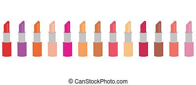set with lipsticks