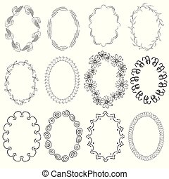 Set with Oval Frames