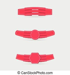 Set with Pink Decorated Ribbons