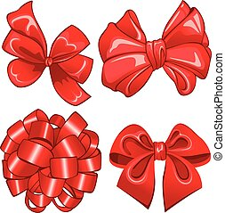 Set with red bows