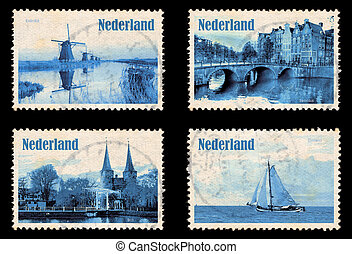 Set with stamps of the Netherlands - Set containing self...