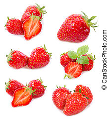 set with strawberry