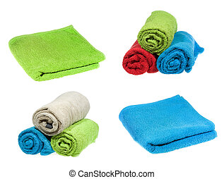 set with towels