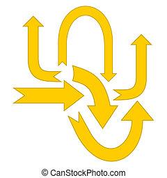 set yellow arrow