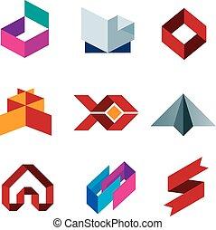 set, zakelijk, beauty, creatief, p, pictogram