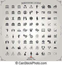 Set, zakelijk, iconen