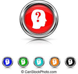 set, zes, -, quiz, kleur, pictogram