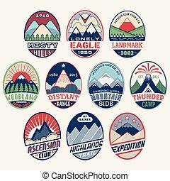 set2color, 山, 徽章