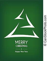 seta, abstratos, árvore, verde, feliz natal