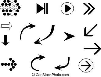 setas, ícones