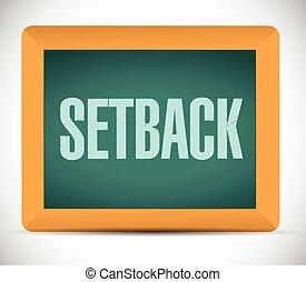 setback board sign illustration