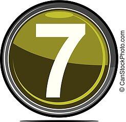 sete, logotipo, desenho, modelo, vetorial