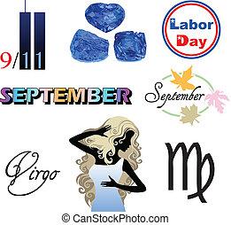 setembro, ícones