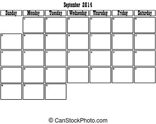 setembro, 2014, planejador, grande, espaço