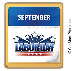 setembro, calendário, dia, trabalho