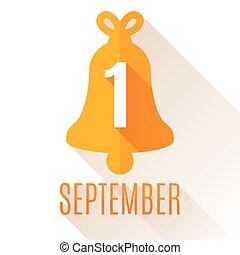setembro, fundo, primeiro